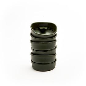 Wildo Fold-A-Cup Set Unicolor 6-Pieces, olijf